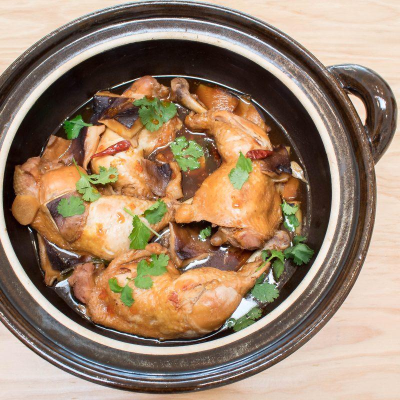 Braised Chicken In Brown Rice Black Vinegar Sauce Happy Donabe Life