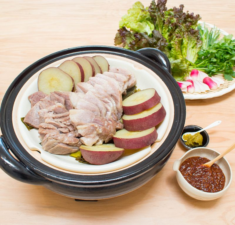 Steamed Moshio-Salt-Marinated Pork Shoulder – Happy Donabe Life